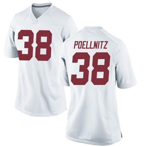 Women's Nike Eric Poellnitz Alabama Crimson Tide Game White Football College Jersey