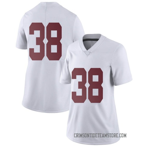 Women's Nike Eric Poellnitz Alabama Crimson Tide Limited White Football College Jersey