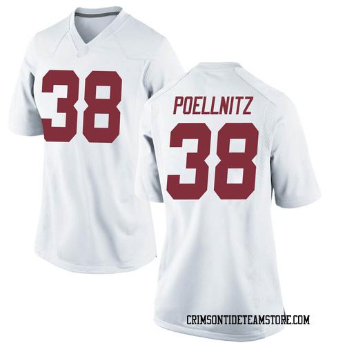 Women's Nike Eric Poellnitz Alabama Crimson Tide Replica White Football College Jersey