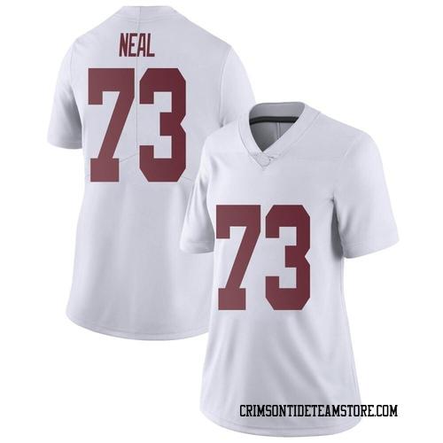 Women's Nike Evan Neal Alabama Crimson Tide Limited White Football College Jersey