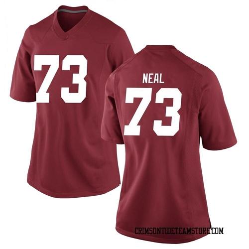 Women's Nike Evan Neal Alabama Crimson Tide Replica Crimson Football College Jersey