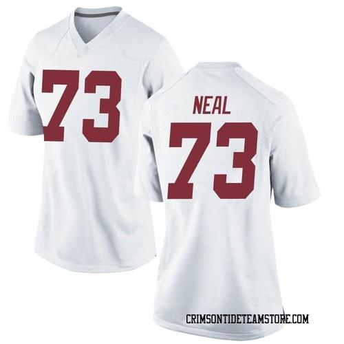 Women's Nike Evan Neal Alabama Crimson Tide Replica White Football College Jersey