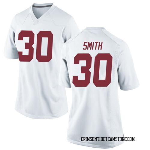 Women's Nike Galin Smith Alabama Crimson Tide Replica White Football College Jersey