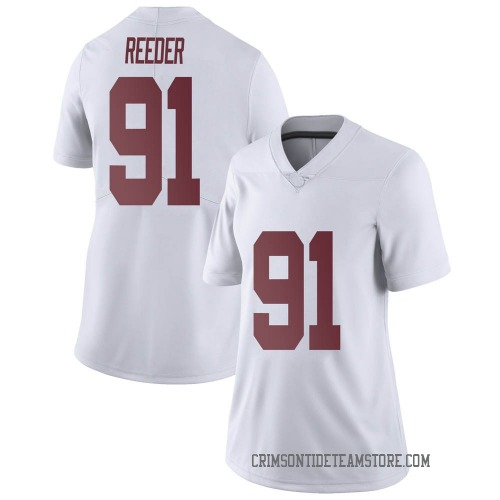 Women's Nike Gavin Reeder Alabama Crimson Tide Limited White Football College Jersey
