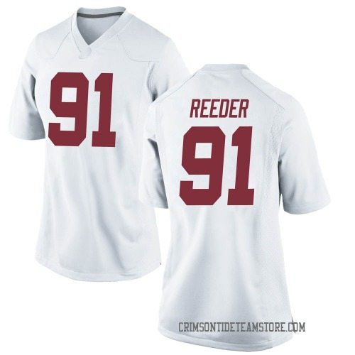 Women's Nike Gavin Reeder Alabama Crimson Tide Replica White Football College Jersey