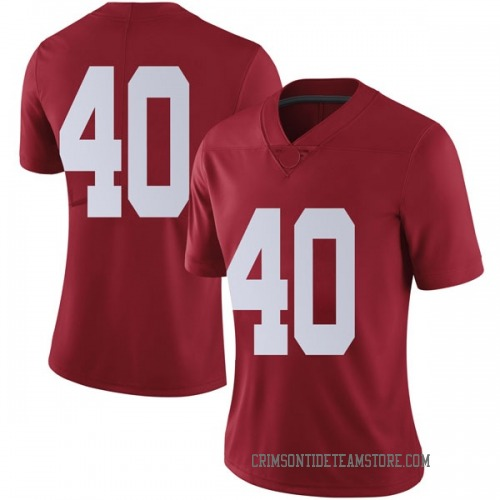 Women's Nike Giles Amos Alabama Crimson Tide Limited Crimson Football College Jersey