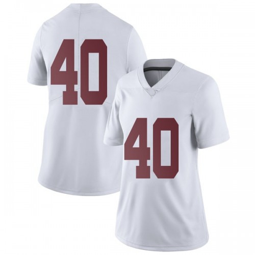 Women's Nike Giles Amos Alabama Crimson Tide Limited White Football College Jersey