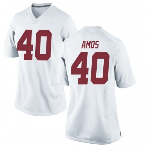 Women's Nike Giles Amos Alabama Crimson Tide Replica White Football College Jersey