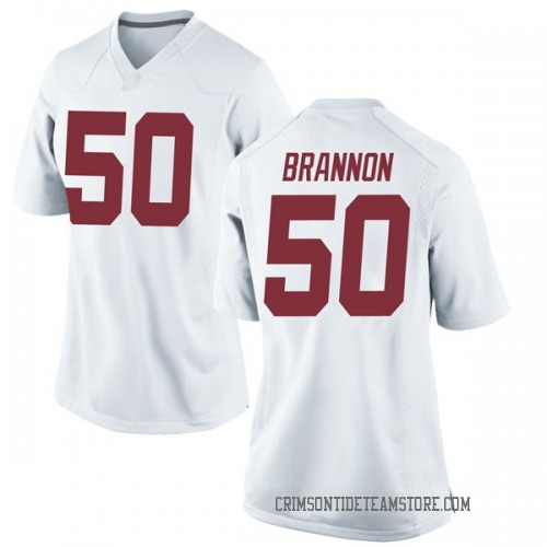 Women's Nike Hunter Brannon Alabama Crimson Tide Replica White Football College Jersey
