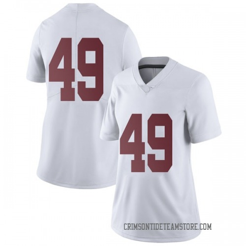 Women's Nike Isaiah Buggs Alabama Crimson Tide Limited White Football College Jersey