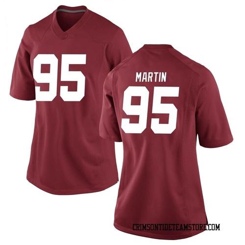 Women's Nike Jack Martin Alabama Crimson Tide Replica Crimson Football College Jersey