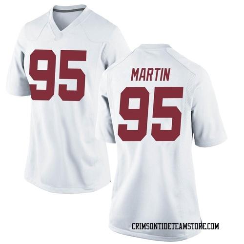 Women's Nike Jack Martin Alabama Crimson Tide Replica White Football College Jersey