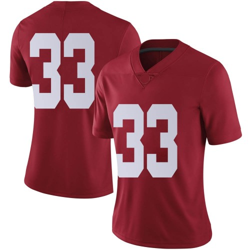 Women's Nike Jackson Bratton Alabama Crimson Tide Limited Crimson Football College Jersey