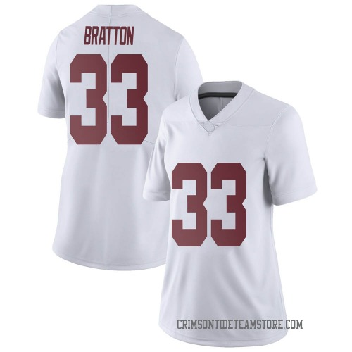 Women's Nike Jackson Bratton Alabama Crimson Tide Limited White Football College Jersey
