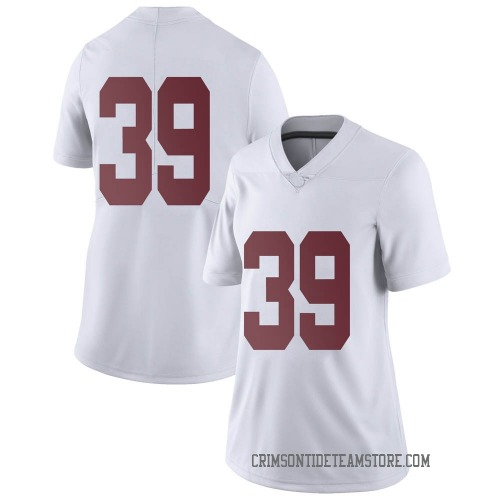 Women's Nike Jahi Brown Alabama Crimson Tide Limited White Football College Jersey