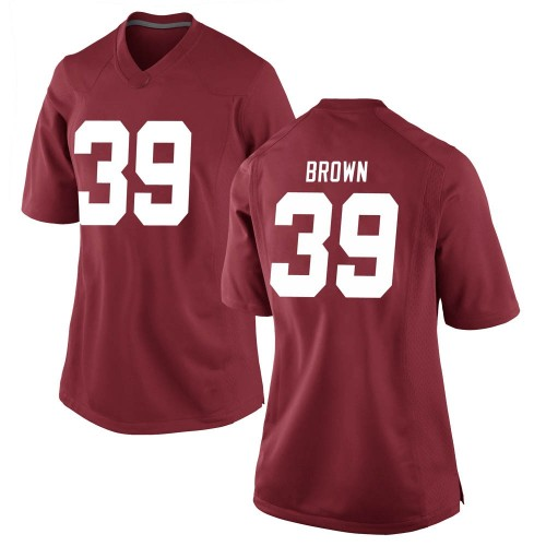 Women's Nike Jahi Brown Alabama Crimson Tide Replica Brown Crimson Football College Jersey