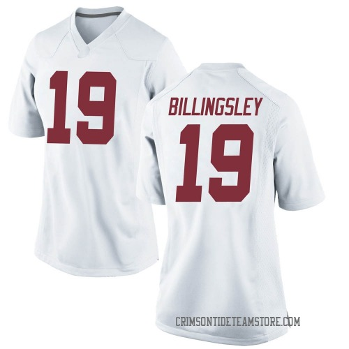 Women's Nike Jahleel Billingsley Alabama Crimson Tide Replica White Football College Jersey