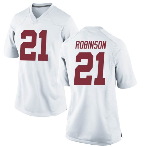 Women's Nike Jahquez Robinson Alabama Crimson Tide Game White Football College Jersey