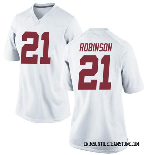 Women's Nike Jahquez Robinson Alabama Crimson Tide Replica White Football College Jersey