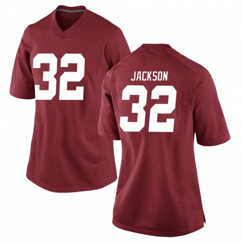 Women's Nike Jalen Jackson Alabama Crimson Tide Game Crimson Football College Jersey