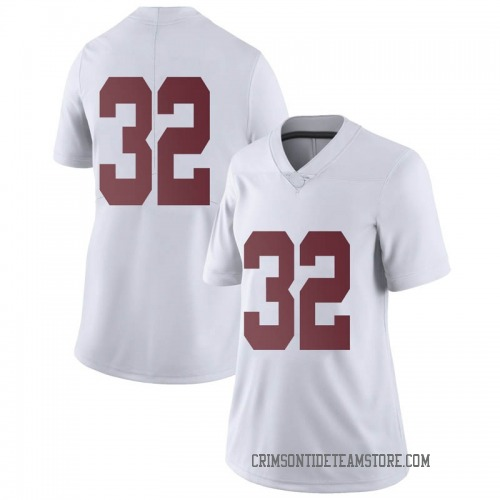 Women's Nike Jalen Jackson Alabama Crimson Tide Limited White Football College Jersey