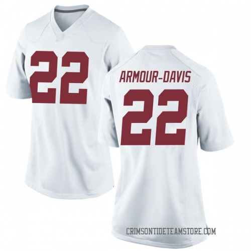 Women's Nike Jalyn Armour-Davis Alabama Crimson Tide Game White Football College Jersey