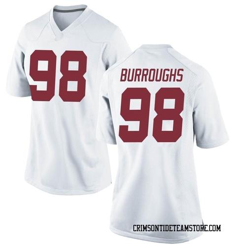 Women's Nike Jamil Burroughs Alabama Crimson Tide Game White Football College Jersey
