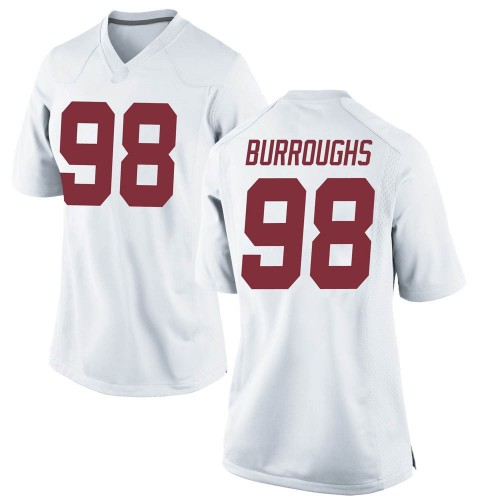 Women's Nike Jamil Burroughs Alabama Crimson Tide Replica White Football College Jersey