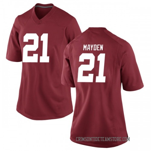 Women's Nike Jared Mayden Alabama Crimson Tide Game Crimson Football College Jersey
