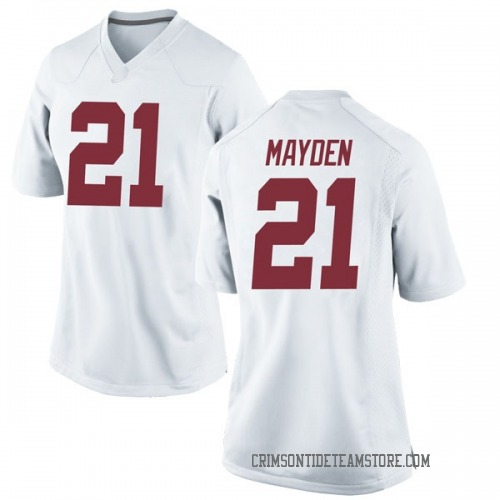 Women's Nike Jared Mayden Alabama Crimson Tide Game White Football College Jersey