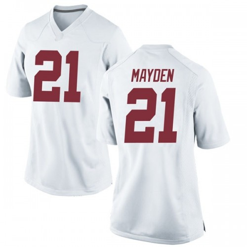 Women's Nike Jared Mayden Alabama Crimson Tide Replica White Football College Jersey