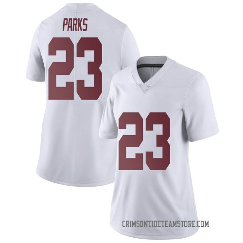 Women's Nike Jarez Parks Alabama Crimson Tide Limited White Football College Jersey