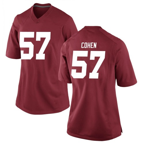Women's Nike Javion Cohen Alabama Crimson Tide Game Crimson Football College Jersey