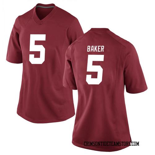 Women's Nike Javon Baker Alabama Crimson Tide Game Crimson Football College Jersey