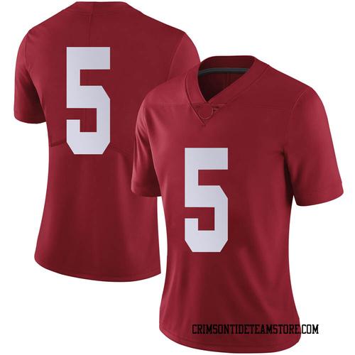 Women's Nike Javon Baker Alabama Crimson Tide Limited Crimson Football College Jersey