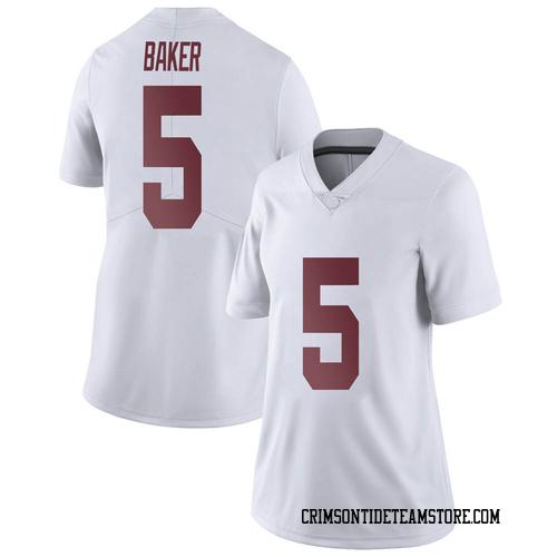 Women's Nike Javon Baker Alabama Crimson Tide Limited White Football College Jersey