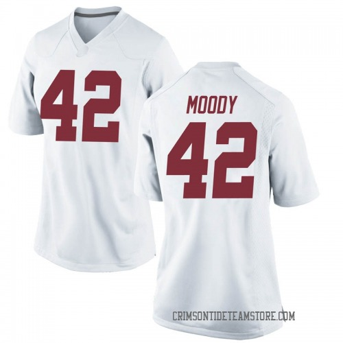 Women's Nike Jaylen Moody Alabama Crimson Tide Game White Football College Jersey