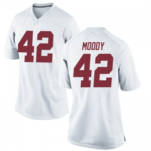Women's Nike Jaylen Moody Alabama Crimson Tide Replica White Football College Jersey