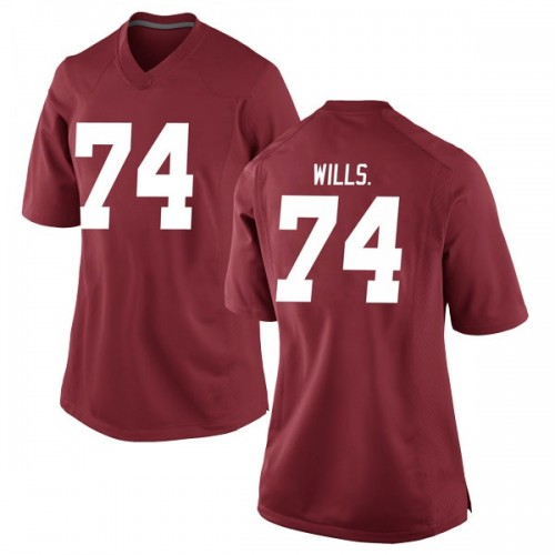 Women's Nike Jedrick Wills Jr. Alabama Crimson Tide Replica Crimson Football College Jersey