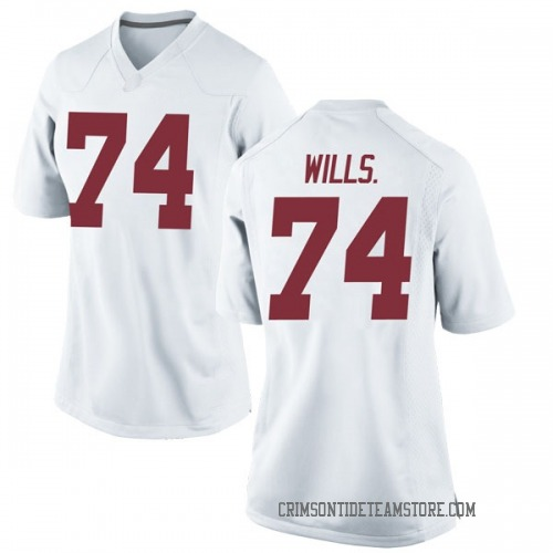Women's Nike Jedrick Wills Jr. Alabama Crimson Tide Replica White Football College Jersey
