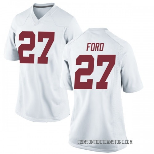 Women's Nike Jerome Ford Alabama Crimson Tide Replica White Football College Jersey