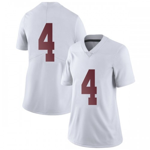 Women's Nike Jerry Jeudy Alabama Crimson Tide Limited White Football College Jersey