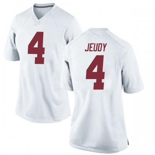 Women's Nike Jerry Jeudy Alabama Crimson Tide Replica White Football College Jersey