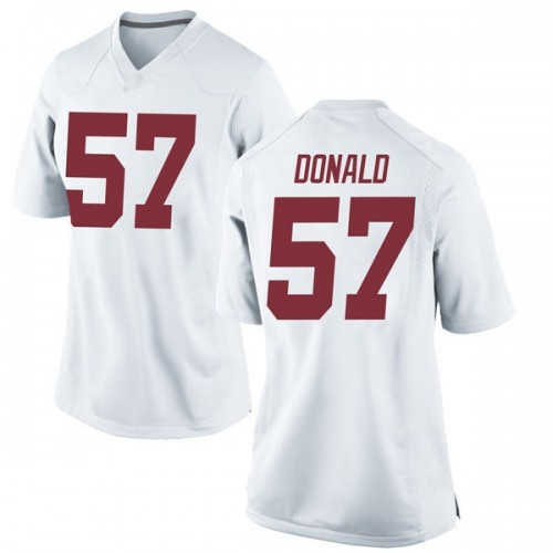 Women's Nike Joe Donald Alabama Crimson Tide Game White Football College Jersey