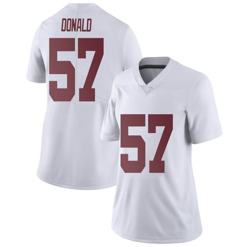 Women's Nike Joe Donald Alabama Crimson Tide Limited White Football College Jersey