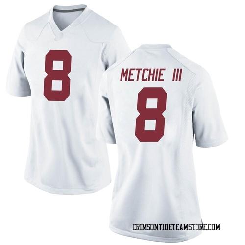 Women's Nike John Metchie Alabama Crimson Tide Game White Football College Jersey