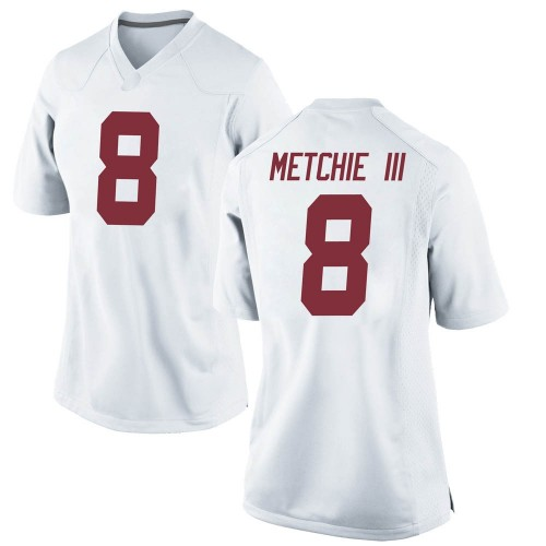 Women's Nike John Metchie Alabama Crimson Tide Replica White Football College Jersey