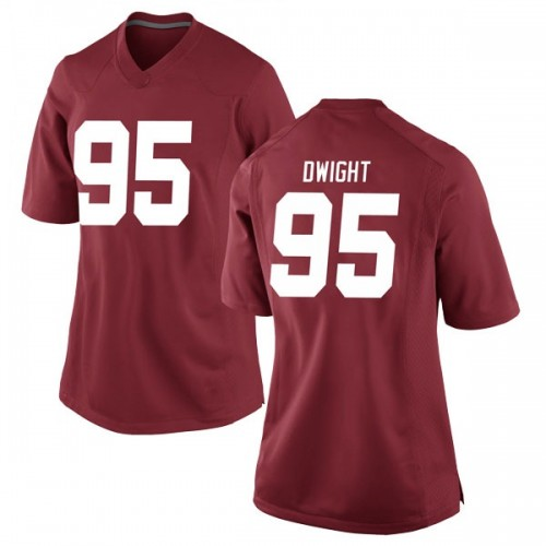 Women's Nike Johnny Dwight Alabama Crimson Tide Game Crimson Football College Jersey