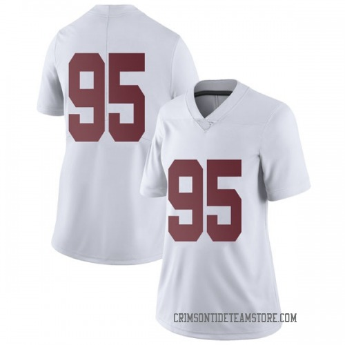 Women's Nike Johnny Dwight Alabama Crimson Tide Limited White Football College Jersey