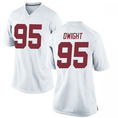 Women's Nike Johnny Dwight Alabama Crimson Tide Replica White Football College Jersey